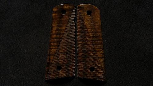 Full Size 1911 Bastogne Walnut Half Checkered grips #5