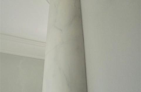 Fuax Marbled Grey Column