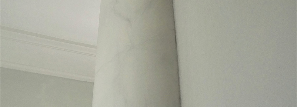 Fuax Marbled Grey Column