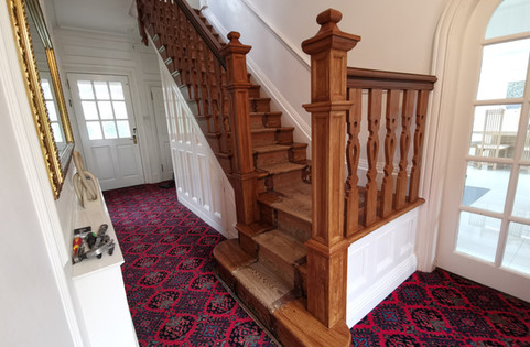 Aged Oak Woodgrained Staircase