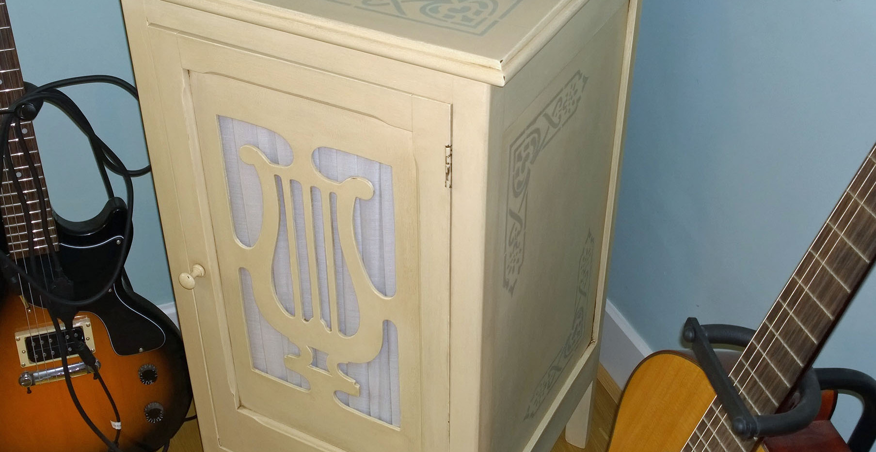 Upcycled, Chalk Painted, French Music Cabinet