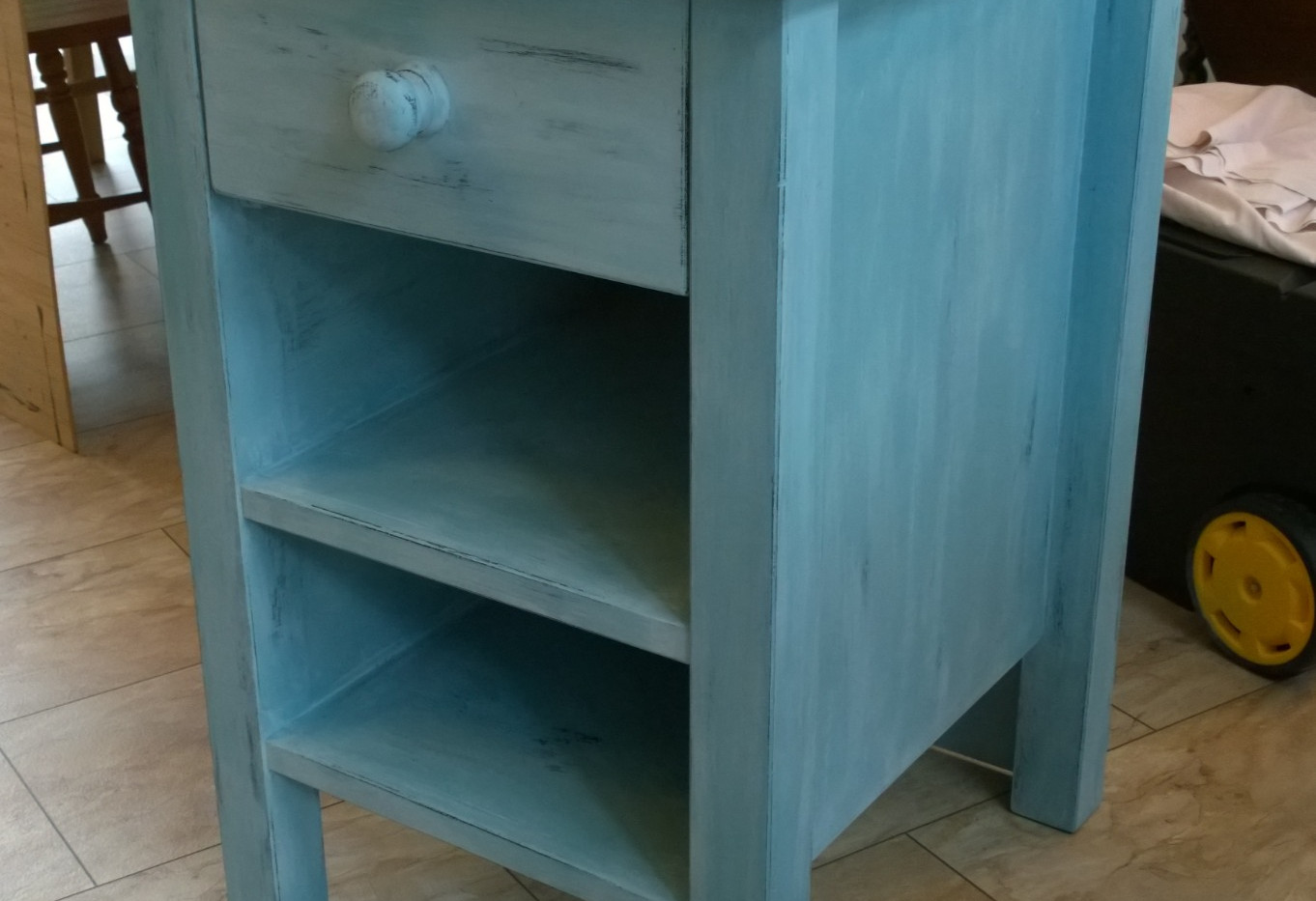 Upcycled, Aged Effect, Hand Painted Kitchen Island Unit