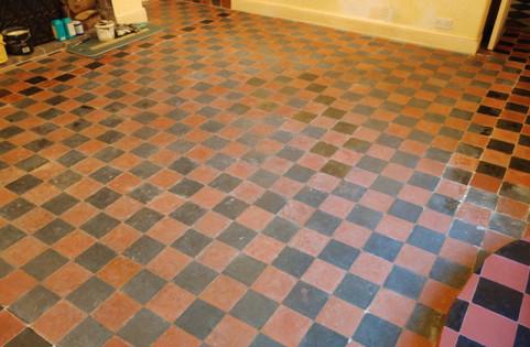 Clay Floor Tiles Repair And Refurbish