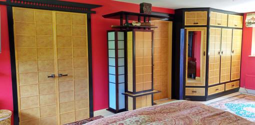 Hand painted oriental bedroom