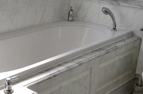 Faux Grey Marbled Effect Bathroom