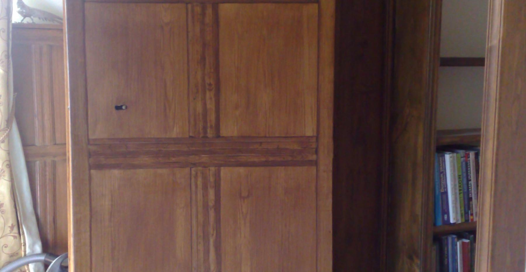 Aged Oak Faux Paneled Woodgrained Door