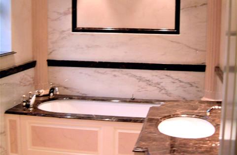 Pink Marbled Bathroom