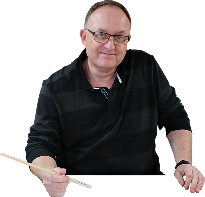 Simon Nobs, director of Snobs Interiors a professional decorating company specialising in paint effects, and course curator at South Coast Studio delivering online courses and workshops at the Studio in Kent