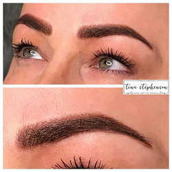 Powder brows - Dense in the middle, dust
