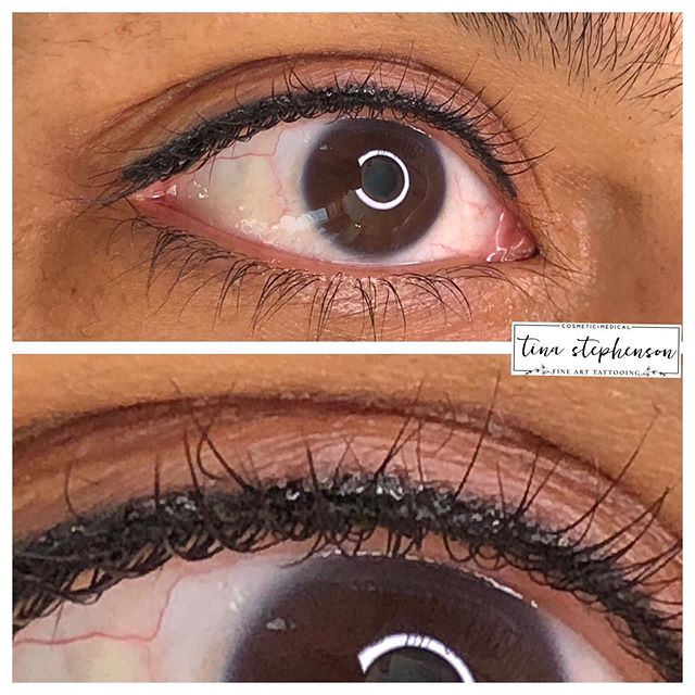 A lash enhancement #eyelinertattoo is pi