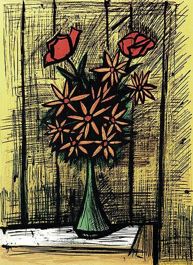 2本のバラとデイジーの花束S.359.jpg