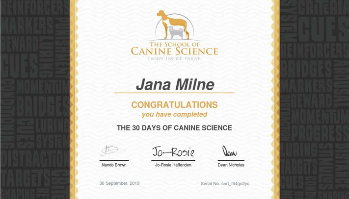 30 days of canine science