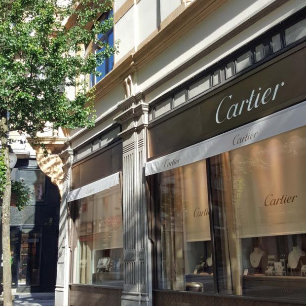 Raffinement de la boutique Cartier, Luxembourg