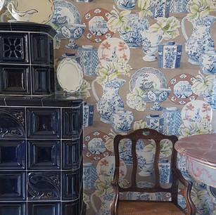Décoration vintage et harmonieuse grâce à ce papier peint