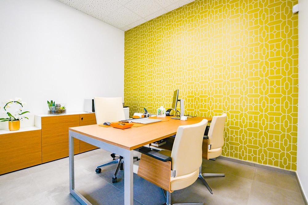 Mise en peinture bureaux agence de formation Soffia Luxembourg