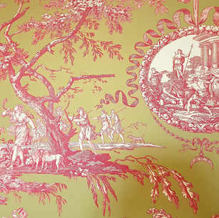 Un classique de la décoration à la française : le papier-peint Toile de Jouy