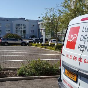 Traçage et numérotation d'un parking extérieur