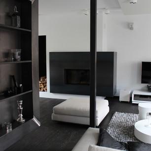 Mise en peinture d'un appartement avec une décoration design