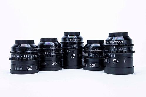Sigma Cine 5 Lens Set