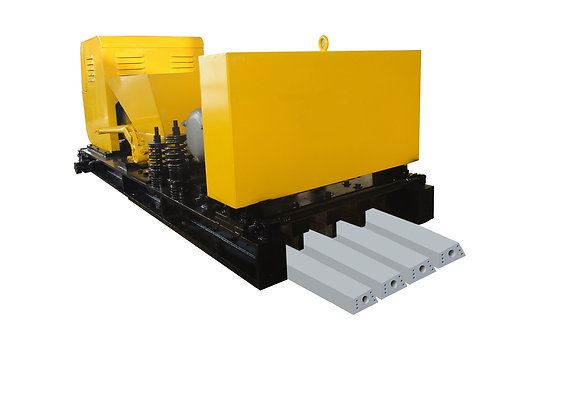 Prestressed concrete beam/lintel machine