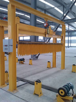 Concrete ground surface rough making machine