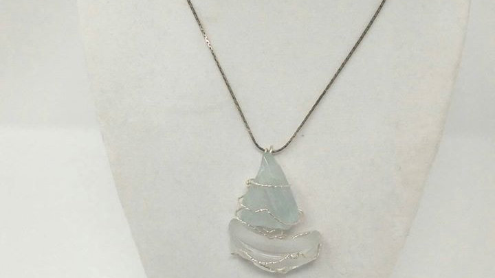 Wire Wrapped Sailboat Necklace