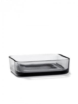 Bol rectangulaire en verre gris - Serax - Collection HEII