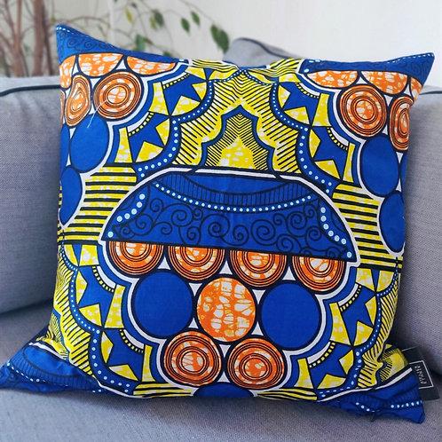 Coussin Royal Blue, 50x50cm - Atelier Ethnik