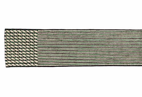 Tapis Blur vert long, 75x398cm - Nanimarquina