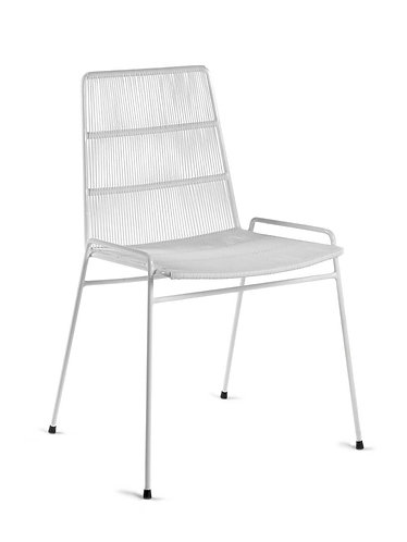 Chaise Abaco, structure blanche - Serax X Paola Navone