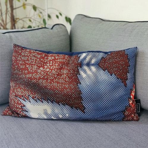 Coussin Red Stars, 30x50cm - Atelier Ethnik