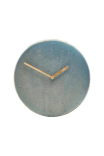 Horloge béton bleu - House Doctor