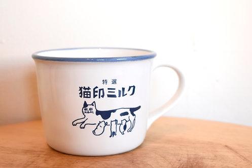 猫印ミルクマグカップ【送料無料対象外】
