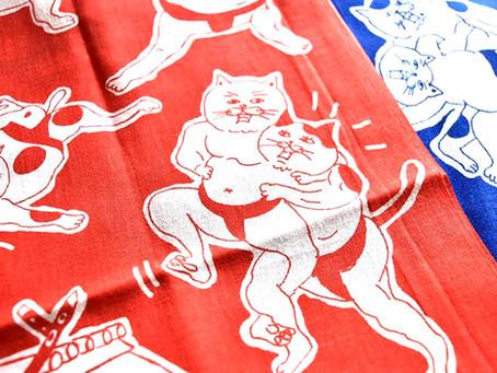 星羊社オリジナル 猫手ぬぐい2018年 release お取扱店