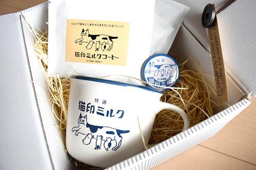 猫印ミルクマグカップ ギフトセット【送料無料対象外】