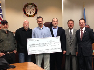 Hillsborough New Jersey Township Receives Donation from Atoms RCers