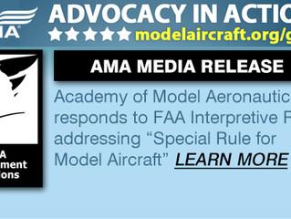 AMA Responds to FAA's Interpretive Rule