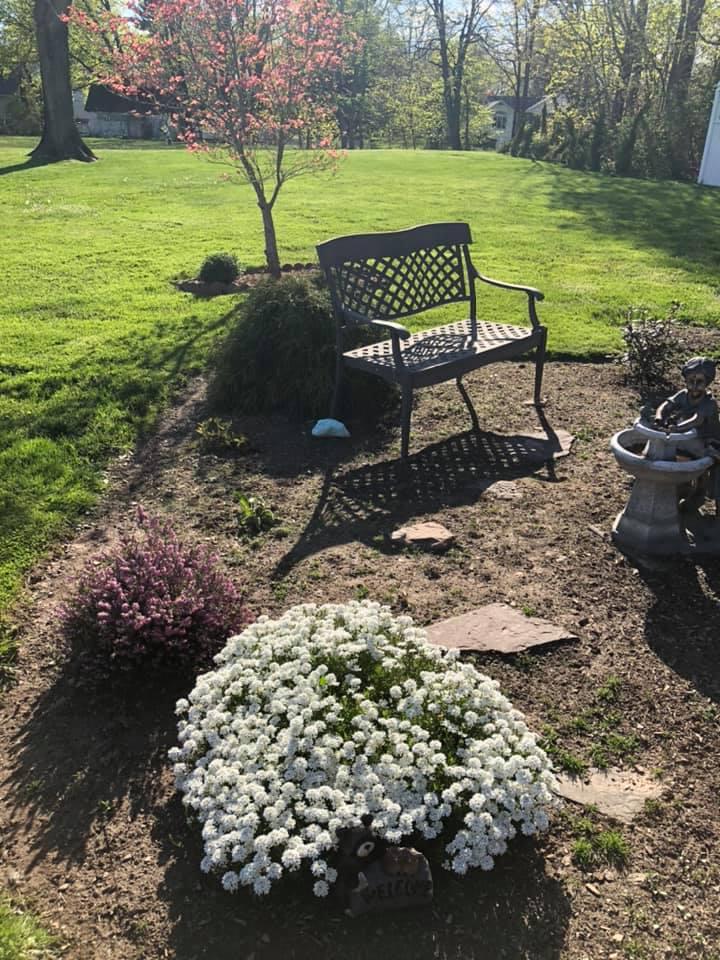 A place to pray in the Memorial Garden