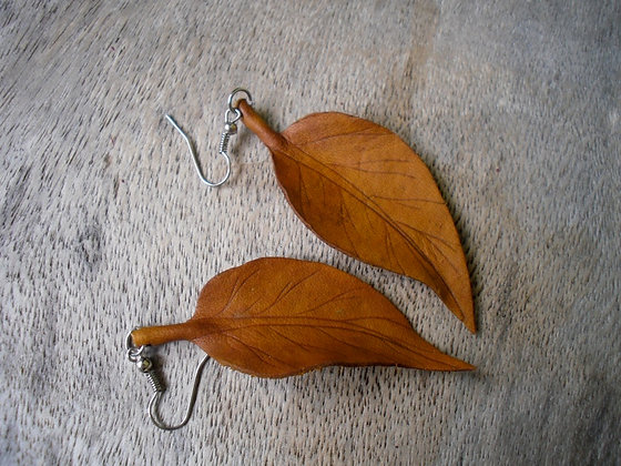 Yellow Leaf Earings