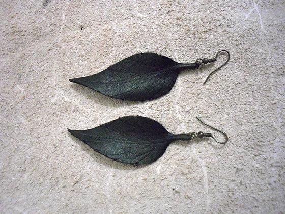 Green Leaf Earings