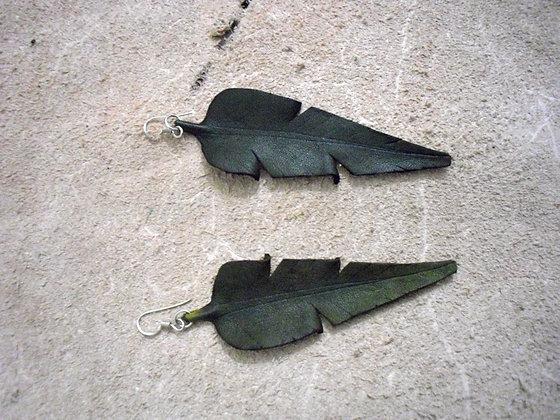 Banana Green Leaf Earings