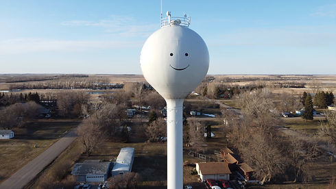 City of Hope ND Water Tower Smile