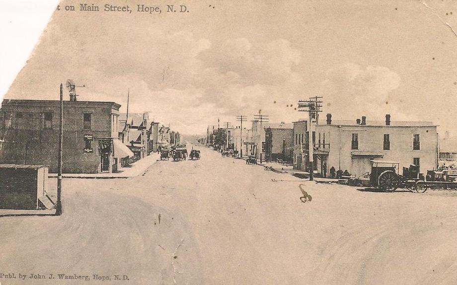 Historic Hope North Dakota Main Street Steele Avenue