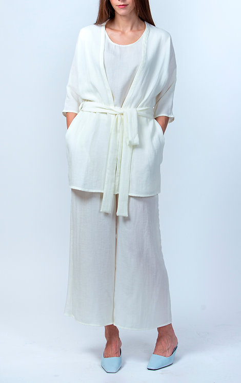 Vanilla White Summer Suit