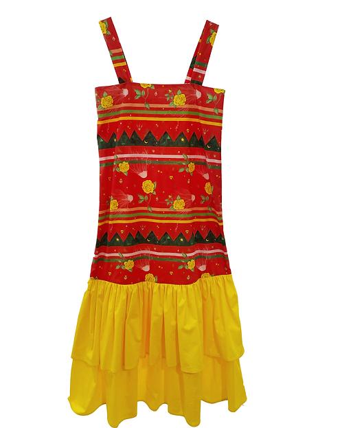 Poplin long sun dress