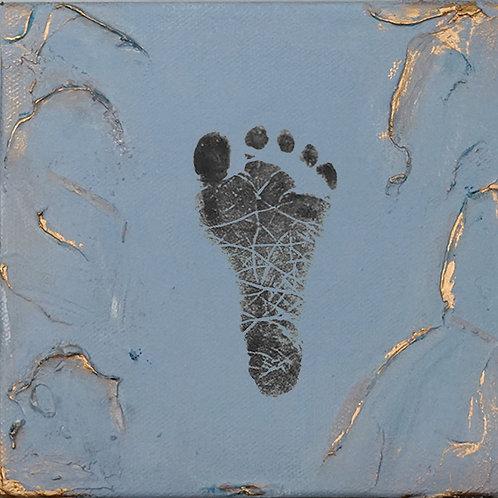 Baby Prints DIY in Louis Blue