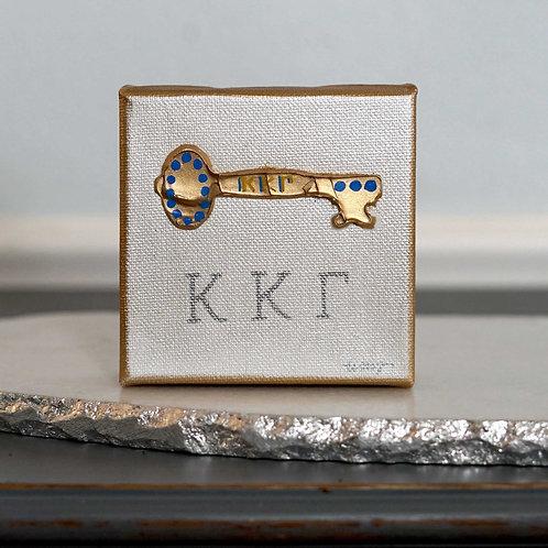 Kappa Kappa Gamma Mini Canvas with textured key