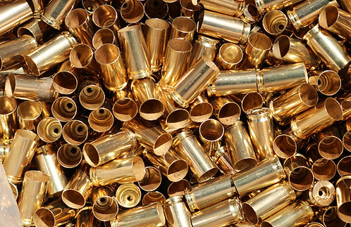 9mm (9x19) Brass Cartridge Cases (100 Pack)
