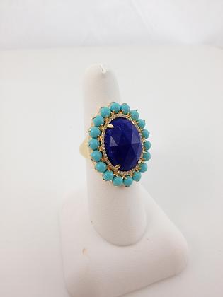 Lapis Turquoise and Diamond