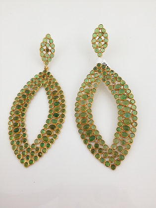 Marquise Shaped Tourmaline Earrings